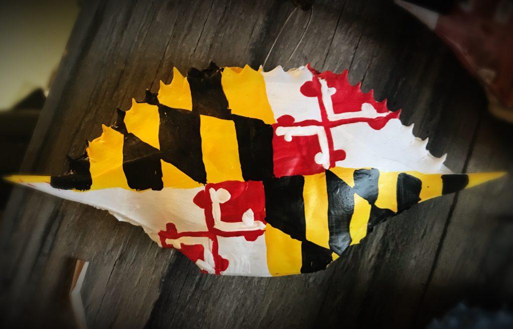 maryland-flag-crab-shell