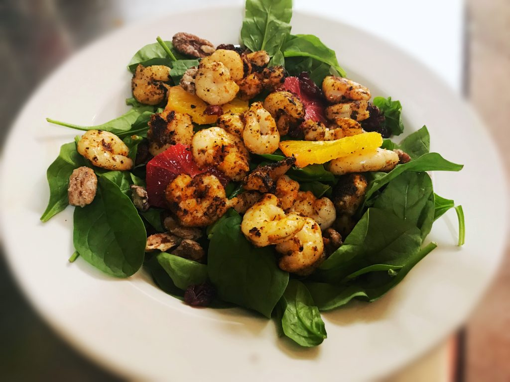 spinach-shrimp-salad